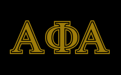 FatHouse Greek lettering for Alpha Phi Alpha: