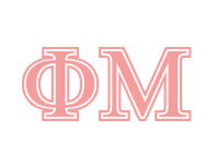 Phi Mu Greek letters example using the Symbolized font