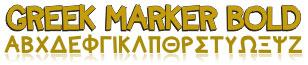 GreekFont Marker Bold