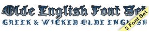 GreekFont Olde English Font Set