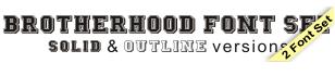 Brotherhood Outline Font