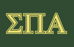 sigma pi alphagreek letters example using the symbolized font