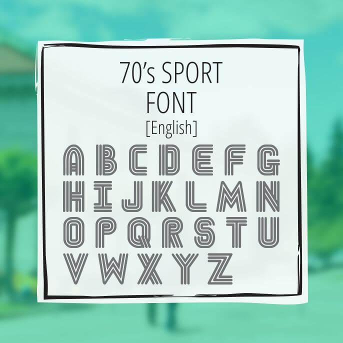 Sample Lettering 70s Sport 1