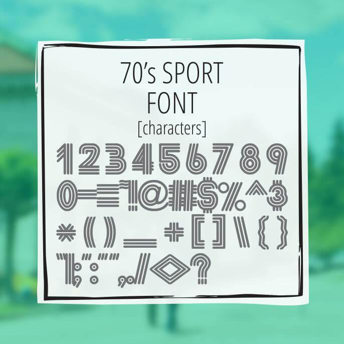 Sample Lettering 70s Sport 3
