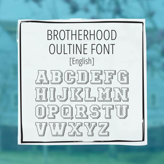 Sample Lettering Brotherhood Outline 1