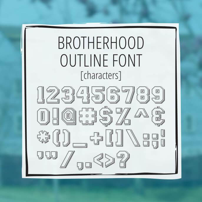 Sample Lettering Brotherhood Outline 3