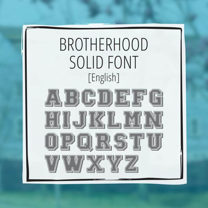 Sample Lettering Brotherhood Solid 1