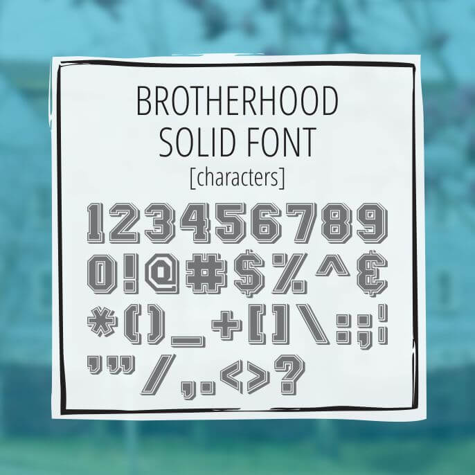 Sample Lettering Brotherhood Solid 3