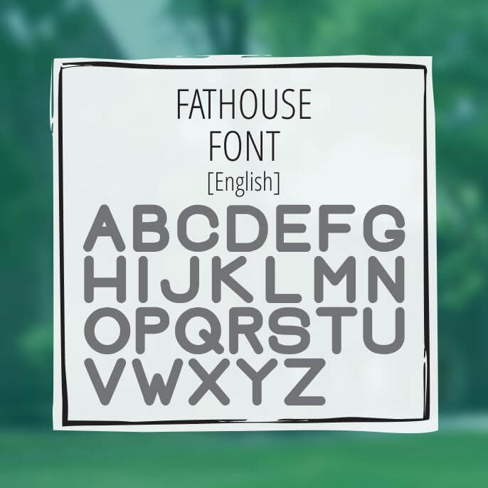 Sample Lettering Fathouse 1