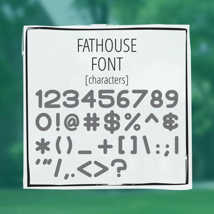 Sample Lettering Fathouse 3