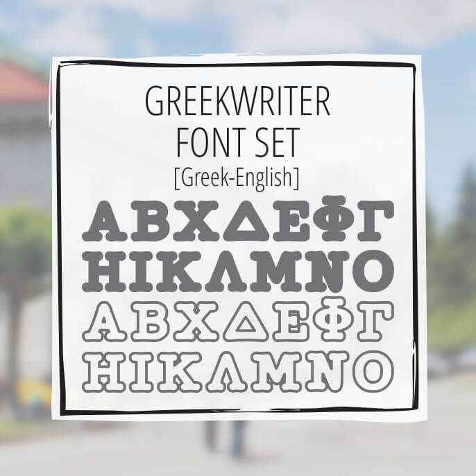 Sample Lettering Greekwriter Font Set
