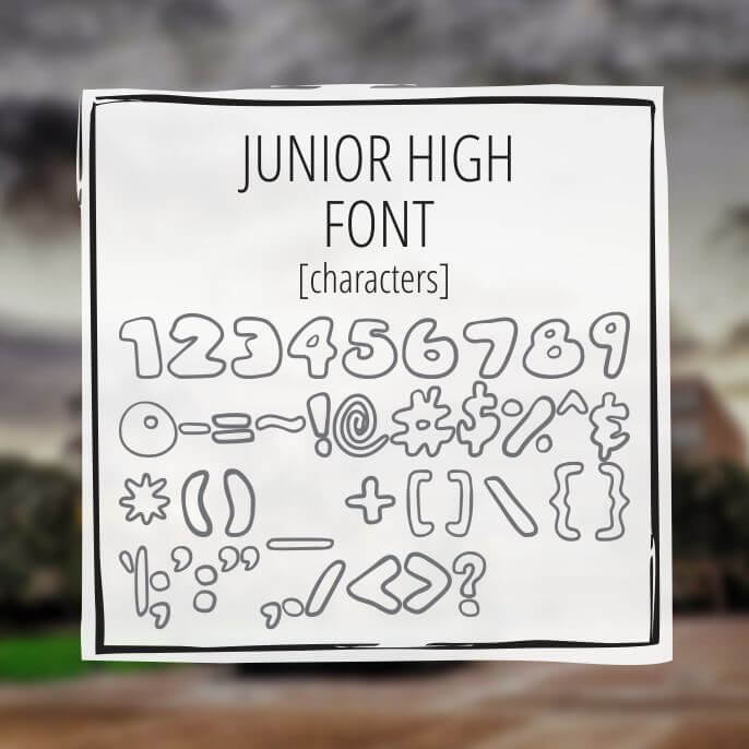Sample Lettering Junior High 3