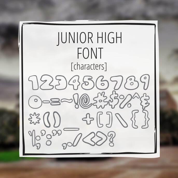 Sample Lettering Junior High 3