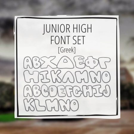 Sample Lettering Junior High Font Set