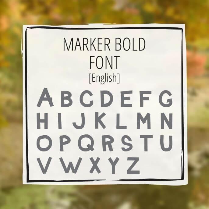 Sample Lettering Marker Bold 1