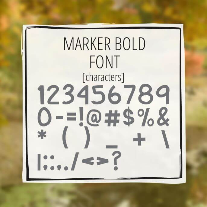 Sample Lettering Marker Bold 3