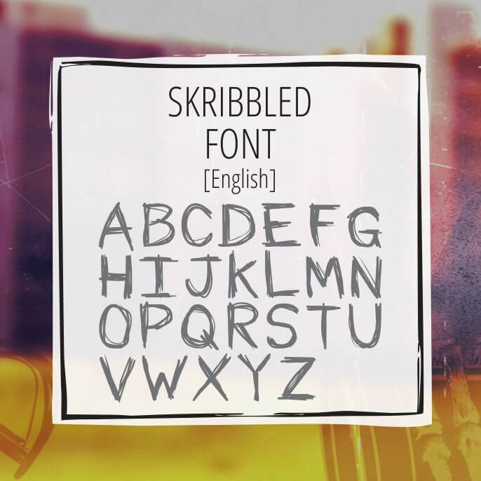Sample Lettering Scribbled 1