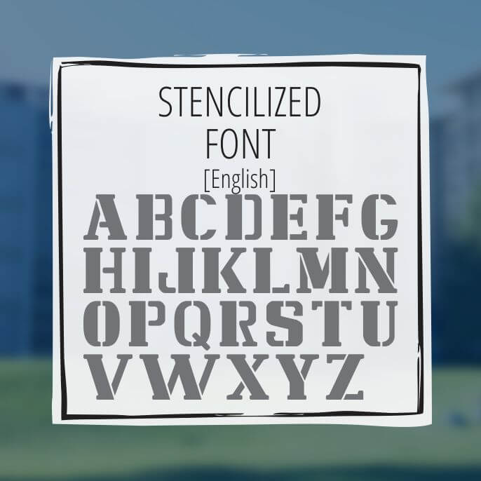 Sample Lettering Stencilized Font 1