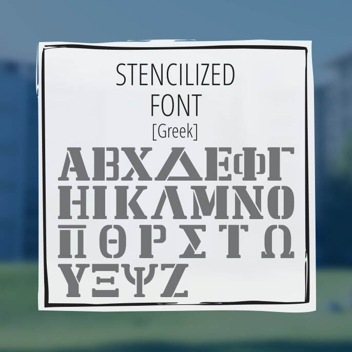 Sample Lettering Stencilized Font 2
