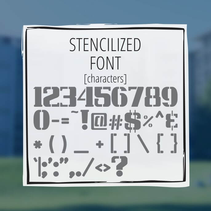 Sample Lettering Stencilized Font 3