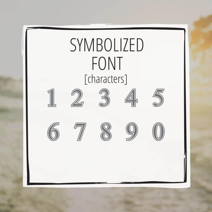 Sample Lettering Symbolized 3