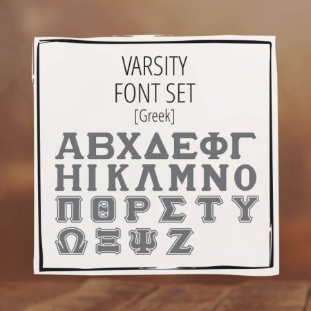 Sample Lettering Varsity Font Set 3