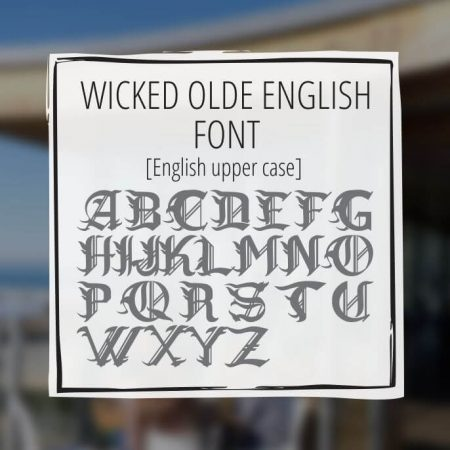Sample Lettering Wicked Olde English 1