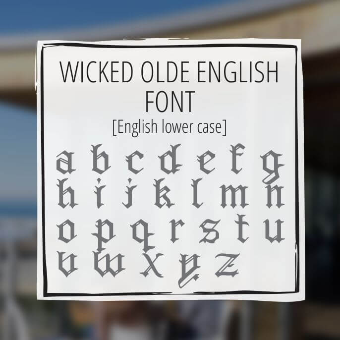 Sample Lettering Wicked Olde English 2