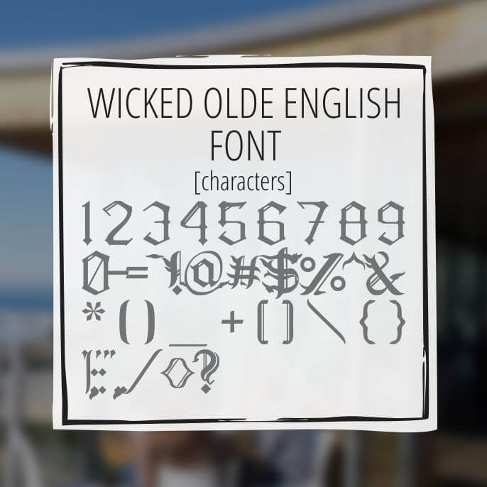 Sample Lettering Wicked Olde English 3