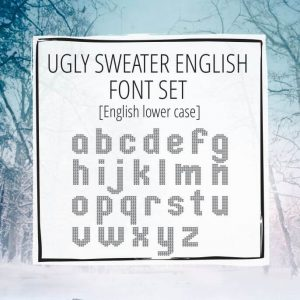 Sample Lettering Ugly Sweater English Lowercase