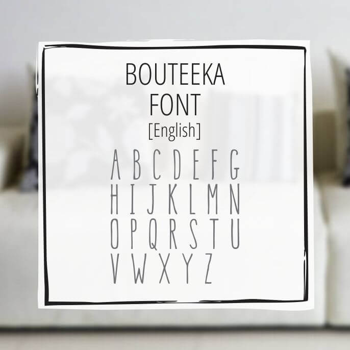 Sample English Lettering Bouteeka 1