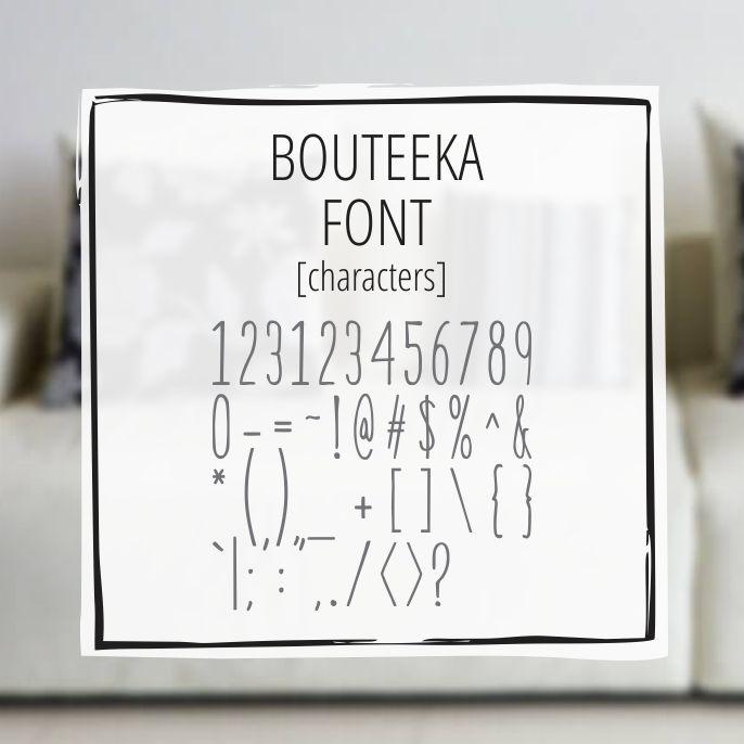 Sample Lettering Bouteeka 3